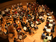 The Singapore Symphony rehearses the concerto at Esplanade Concert Hall